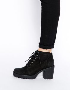 Vagabond Grace Nubuck Heeled Lace Up Ankle Boots $152.43