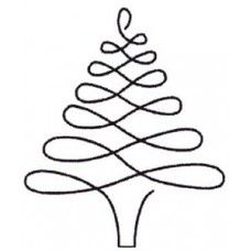Quilt Stencil Christmas Tree 4 Inch