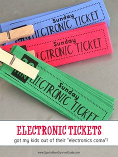 Do you get tired of your kids faces being in front of a screen every free moment they have? These electronics tickets saved my sanity and gave my kids their creativity back! Print out these free electronic tickets for your kids! Crafts For Kids, Activities For Kids, Screen Time For Kids, Limit Screen Time, Parenting Advice, Kids And Parenting, Parents, Baby Kind, Kids Playing
