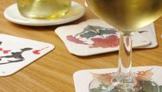 analyse your friends - Rorschach test coasters :) Sous Bock, Rorschach Test, Coasters, Alcoholic Drinks, Design, Friends, Utensils, Art Art, Project Ideas