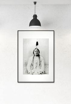 Framed art. Old photo of indian. www.desenio.se