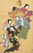 【参考】 雰囲気が類似する、鈴木其一の有名な「群舞図」