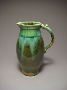 Green Pitcher by pedersonpottery on Etsy