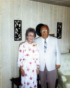 The picture is of my grandfather and grandmother circa 1988 or so. Why do a family history project? So you can share. Not with people now only, but the future. Get those pictures out of albums and into the universe. There are so many things to say, so many memories that each picture carries. Share them!