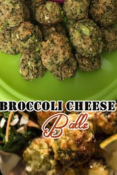 Broccoli Cheese Balls are crispy on the outside with 3 kinds of gooey melted cheese and fresh broccoli on the inside. Make a great appetizer! Easy Chicken Dinner Recipes, Best Dinner Recipes, Baked Chicken Recipes, Sweet Potato Recipes, Healthy Chicken, Fresh Broccoli, Broccoli And Cheese, Fish Dinner, Dinner Sides