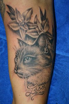 kitty cat - 55 Examples of Cute Cat Tattoo  <3 <3
