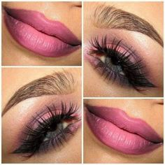 Eye Makeup Eyeshadow Lips Lipstick: #Pink #Eyes and #Lips.