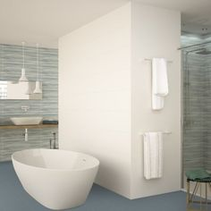 If you're looking for white bathroom tiles or white kitchen tiles these white matt tiles are a modern tile choice. Create stylishly simple clean lines with just these large wall tiles or introduce some interest with silver border tiles, mosaics or interesting feature wall tiles. Modern White Bathroom, White Bathroom Tiles, Bathroom Wall, Bathroom Faucets, Modern Wall, Bathroom Ideas, White Ikea Kitchen, White Kitchen Backsplash, Kitchen Tiles