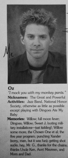 Oz .... My favorite:-)  well... besides Angel in those tight pants and brooding eyes!