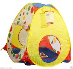 child tent + 50 ocean balls kids game house basket ball indoor and outdoor play #Unbranded