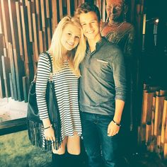 Here's the lovely actress and singer Brooke Sorenson with her boyfriend Gavin Macintosh wearing E's Sawyer tunic.