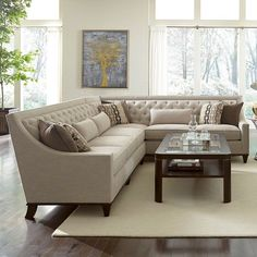 Found it at Wayfair - Westphalia Sectional. For the formal living room? Living Room Decor Curtains, Living Room Colors, Living Room Sofa, Living Room Designs, Sofa Furniture, Living Room Furniture, Wooden Furniture, Antique Furniture, Natural Furniture