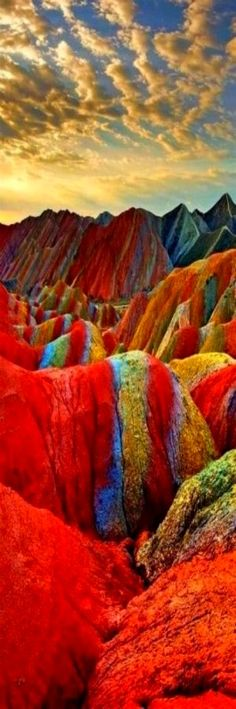 Rainbow Mountains, Zhangye Danxia Landform Geological Park, Gansu, China