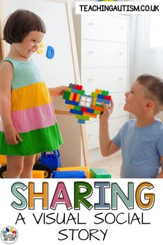 Do your children struggle with sharing in your classroom? This visual social story is a great strategy to help your students understand how and why they should share with others. Teaching Autistic Children, Autism Teaching, Anxiety In Children, Autism Classroom, Special Education Classroom, Children With Autism, Teaching Kids, Classroom Resources, Teaching Resources