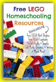 LEGO HOMESCHOOLING RESOURCES      The following list is full of Lego freebies, resources, activities, and more and they are all FREE!  Wondering how