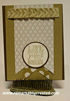 More Stampin' UP Ribbon Techniques