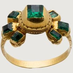 Baroque emerald cluster ring from Italy, century Renaissance Jewelry, Medieval Jewelry, Ancient Jewelry, Victorian Jewelry, Byzantine Jewelry, Wiccan Jewelry, Fashion Jewelry Necklaces, Jewelry Gifts, Fine Jewelry