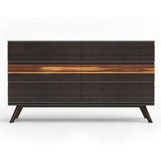 Greenington GA0005SA Azara Six Drawer Dresser in Sable