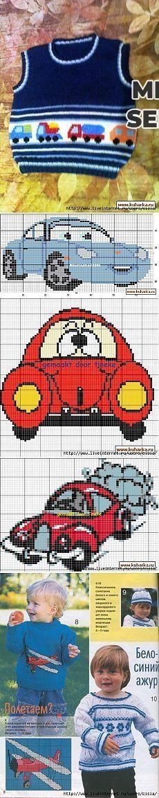 """Baby Knitting Patterns combine jóvenes amantes TRANSPORTE [ """"Find and save knitting and crochet schemas, sim. Baby Knitting Patterns, Baby Boy Knitting, Knitting Charts, Knitting For Kids, Crochet For Kids, Baby Patterns, Knit Crochet, Crochet Patterns, Diy Crafts Knitting"""