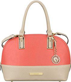 Tignanello Women Handbags Triple Entry Satchel Handbag, Rose Metal ...