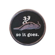 so it goes. iron on embroidered patch Kurt Vonnegut