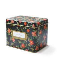 Midnight Garden Tin Recipe Box - Rifle Paper Co.