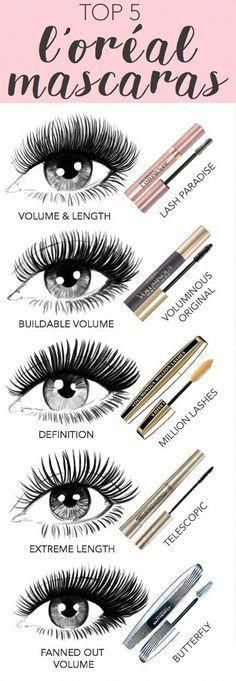 Top 5 mascaras from l oreal paris new lash paradise voluminous original million lashes telescopic and butterfly drugstore makeup makeup tips makeup ideas glam makeup makeup products beauty makeup makeup hacks hair beauty makeup stuff Dupe Makeup, Makeup Hacks, Glam Makeup, Makeup Inspo, Skin Makeup, Makeup Brushes, Makeup Stuff, Makeup Ideas, Makeup Tips And Tricks