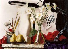 """Ekaterina Kiseleva """"In the studio"""". Oil on canvas, 2001"""
