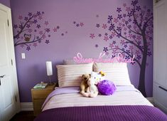 Owl and bird Cherry Blossom Tree wall decals by DreamKidsDecal, $69.00