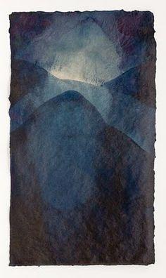 Mary Hark, handmade paper.  Flax and abaca fibre, indigo dye, gelatin size.  maryhark.blogspot.com
