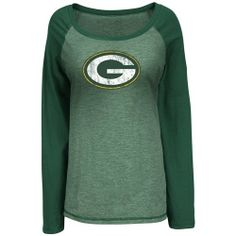 NFL Green Bay Packers Women's Sport Princess III Jersey, Green Melange, Large - http://nfledge.net/nfl-green-bay-packers-womens-sport-princess-iii-jersey-green-melange-large/ - Calling all NFL Fashionistas. Score a style touchdown in this Sport Princess III, Open Neck Raglan Fashion Top providing you comfort and sport Style . Product Features  Majestic RAGLAN FASHION TOP, PACKERS SPORT PRINCESS III, Women's Licensed Apparel Color GREEN MELANGE, 60 Cotton 40 Polyester Sl