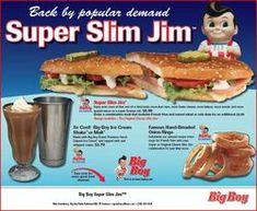 "Big Boy's New Menu Items: ""The Bold and the Bigger"" Good Food, Yummy Food, Fun Food, Yummy Recipes, Big Boy Restaurants, Vintage Restaurant, Hamburger Patties, Fast Easy Meals, New Menu"
