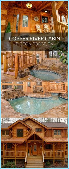 A luxurious cabin retreat in the mountains Featured cabin: Copper River # PigeonForge Vacation Places, Vacation Destinations, Dream Vacations, Vacation Trips, Vacation Spots, Places To Travel, Vacation Ideas, Family Vacations, Cabin Vacations