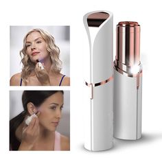 Electric Women Lipstick Shaver Razor Wax Finishing Touch Flawless Hair Remover Trimmer Shaving Machine Lipstick Shaving Tool