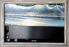 Flat Screen TV Frame with motorized art cover