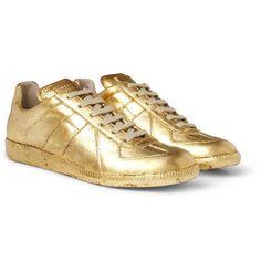 Maison Martin Margiella metallic leather sneaker £380 at MR PORTER