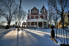 Roslyn Heights on Main St. in Boonville in Cooper County Missouri by Notley Hawkins Photography. Roslyn Heights is the home of the Missouri State Society Daughters of the American Revolution.