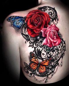 Celebrate femininity with 50 of the most beautiful lace .- Feiern Sie die Weiblichkeit mit 50 der schönsten Spitzentattoos, die Sie je gesehen haben, Celebrate femininity with 50 of the most beautiful lace tattoos you have ever seen celebrate have - Tattoos For Women On Thigh, Cover Up Tattoos For Women, Tattoos For Women Flowers, Beautiful Tattoos For Women, Shoulder Tattoos For Women, Sleeve Tattoos For Women, Shoulder Cover Up Tattoos, Lace Shoulder Tattoo, Rose Tattoo Cover Up
