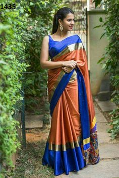 Zarna silk saree digital prinyed with blouse
