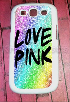 Samsung Galaxy S3 Case, Love Pink Colorful  Samsung Galaxy S3 Cover, Samsung Galaxy S3 Cases, Galaxy s3 case on Etsy, $15.95