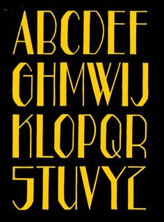Alphabet based on a handpainted sign used in a demonstration in the Art Deco Typography, Tattoo Lettering Fonts, Font Art, Typography Fonts, Calligraphy Fonts, Caligraphy Alphabet, Handwriting Alphabet, Hand Lettering Alphabet, Graffiti Alphabet