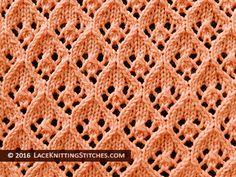 Diamond Lace Knitting Stitch