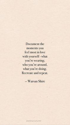 Love yourself.