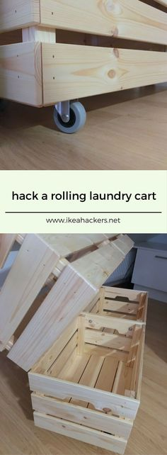 I love this hack from Mikko -- rolling laundry cart! I can see it used for toy storage too.  http://www.ikeahackers.net/2017/08/rolling-laundry-cart-made-knagglig-boxes.html