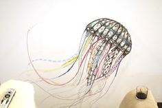 """great tutorial on using watercolor pencils / shows the beautiful colorful jellyfish as a dry drawing & the """"magic"""" effect of going over the wc pencil with water {Bower Power}"""
