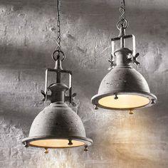 Industrie Lampe, Vintage Lampe,Pendelleuchte Antik