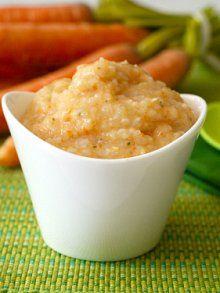 Carrot, Brown Rice, Parsley Puree