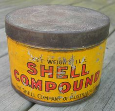 Vintage Shell Compound Grease Tin - Complete with the original lid