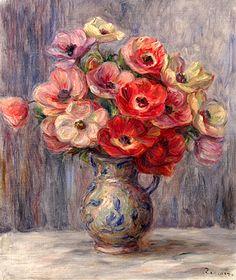 Pierre-Auguste Renoir - Anemones, ca. 1883-1890.
