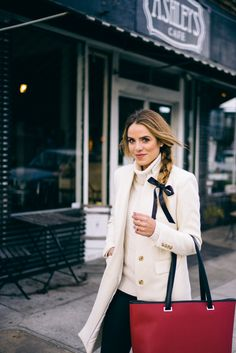 Gal Meets Glam Lo&Sons Best Laptop Bag and J.Crew Coat and Sweater